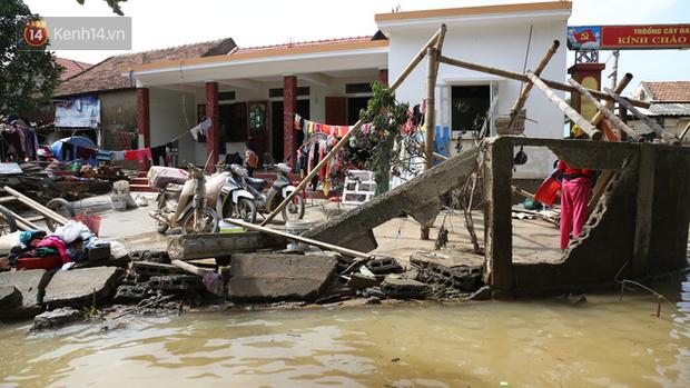 Sáng 23/10, nước tại tỉnh Quảng Bình đã rút mạnh. Nhiều khu vực đã cạn khô.