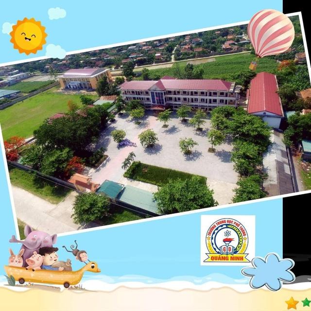 Ngôi trường của thầy giáo Hà Quý sau khi được dọn dẹp lại.