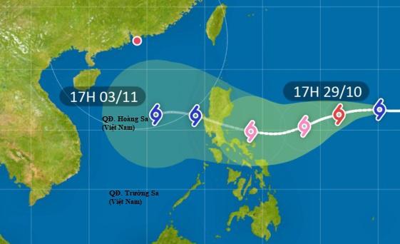 Cơ quan khí tượng Hong Kong dự báo đường đi của bão Goni trong những ngày tới. Ảnh: HKO.