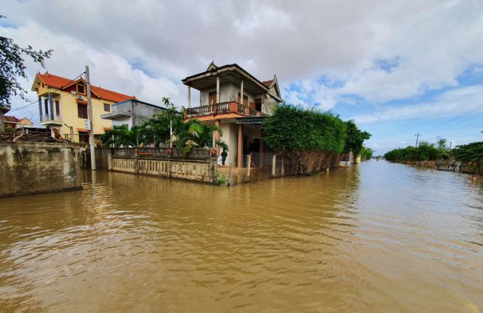 Một số khu vực của tỉnh Quảng Bình bị ngập.
