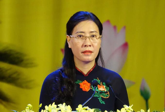 Bà Bùi Thị Quỳnh Vân, Bí thư Tỉnh ủy Quảng Ngãi. Ảnh: Ngọc Đức.