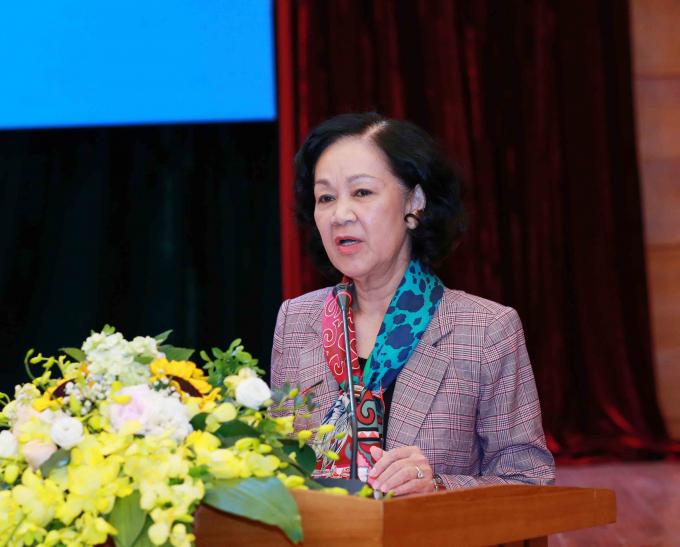 Đồng chí Trương Thị Mai -Ủy viên Bộ Chính trị, Bí thư Trung ương Đảng, Trưởng Ban Dân vận Trung ương.