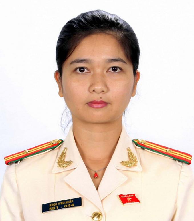Nữ đại biểu Quốc hội Ksor H'Bơ Khắp.
