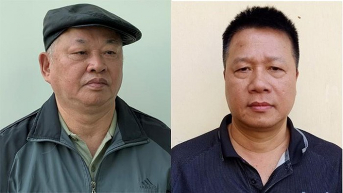 Bị can Đào Quốc Việt và bị can Trần Quang Tiến.