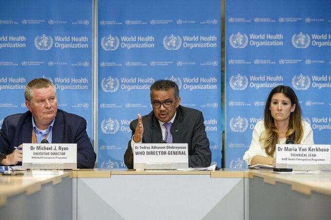 Các lãnh đạo WHO trong cuộc họp tại Geneva, Thuỵ Sĩ, tháng 2/2020. Ảnh: AP