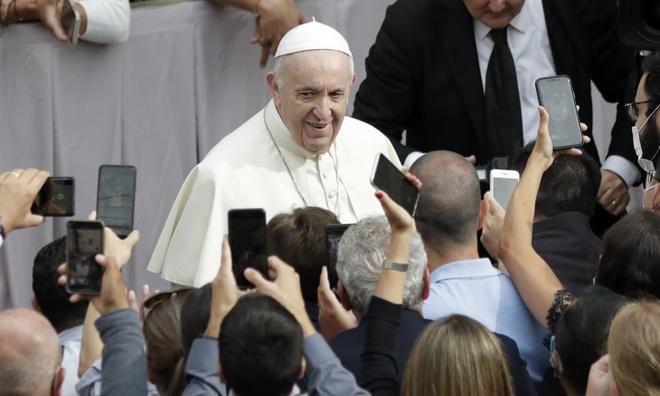 Giáo hoàng Francis. Ảnh:AP.