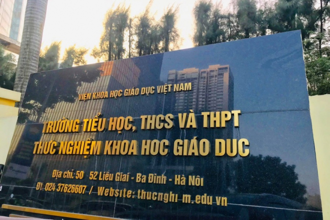 Trường Tiểu học, THCS và THPT Thực nghiệm Khoa học Giáo dục (Ba Đình, Hà Nội).