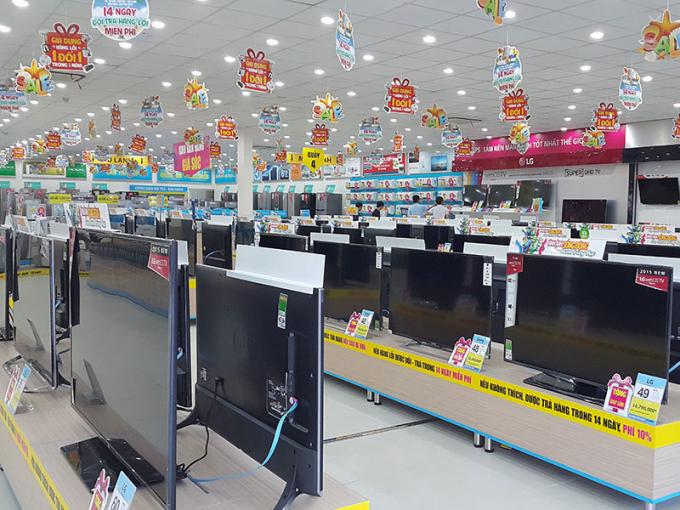 Các siêu thị điện máy giảm giá