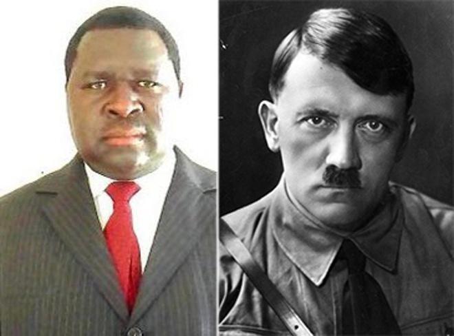 Ủy viên hội đồng địa phương Namibia (trái) nổi tiếng vì trùng tên với Hitler. Ảnh:Getty.