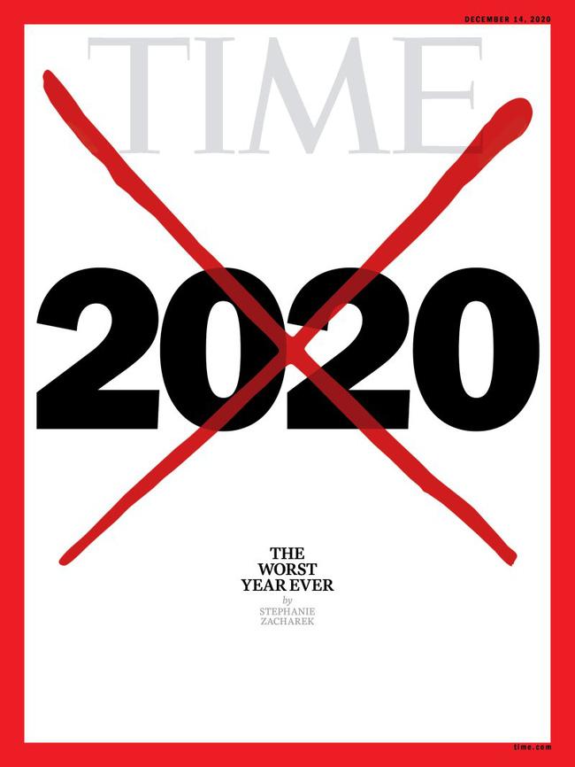 Ảnh bìa gạch xóa của tạp chí Time: 2020 là một năm tồi tệ nhất trong lịch sử nhân loại