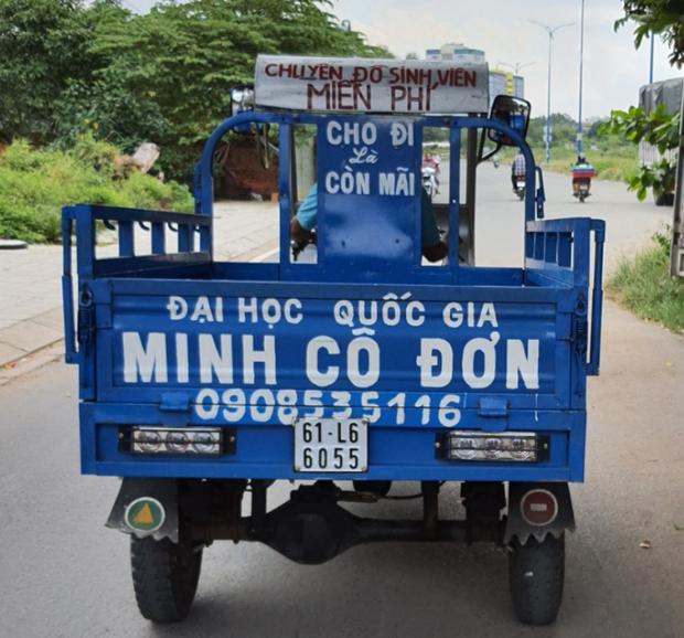 Chiếc xe ba gác bị mất của chú Minh (Ảnh: FB)