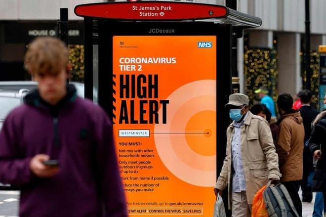 Ngày19/12, Anh đã đưa ra nhiều biện pháp chống dịch nghiêm ngặt vì biến chủng mới của virus corona. Ảnh:AFP.