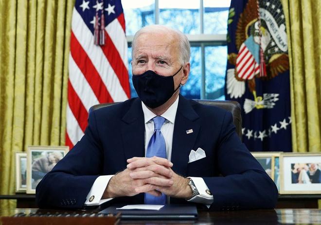 Ông Biden tại Nhà Trắng hôm 20/1. Ảnh: Reuters.
