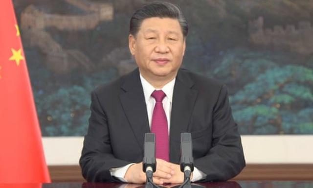 Chủ tịch Trung Quốc Tập Cận Bình phát biểu tại cuộc họp trực tuyến của WEF (Ảnh: EPA)