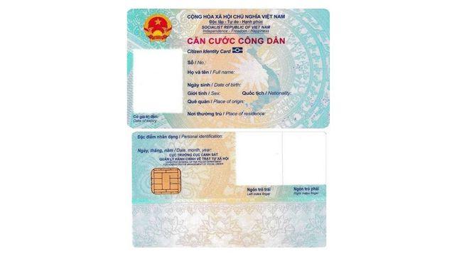 Thẻ căn cước công dân mẫu mới