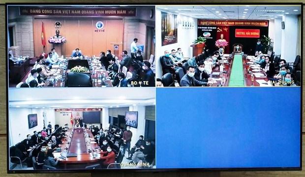Hình ảnh cuộc họp trực tuyến. (Ảnh: Bộ Y tế)