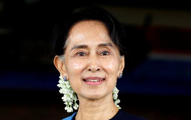 Nhà lãnh đạo Myanmar, bà Aung San Suu Kyi, bị bắt ngày 1/2. Ảnh: Reuters.