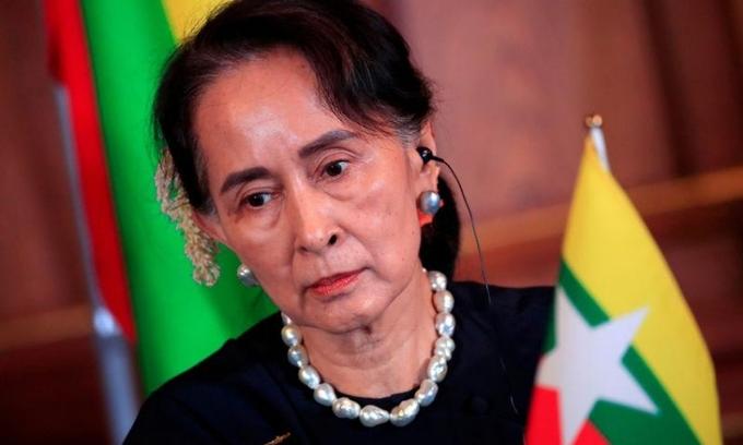 Cố vấn Nhà nước Myanmar Aung San Suu Kyi.