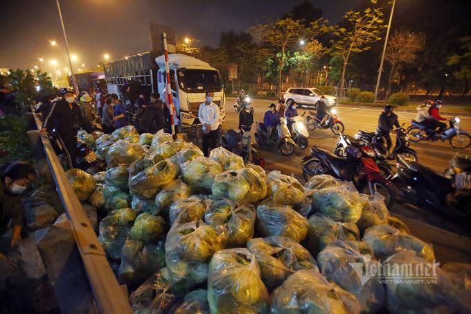 Đêm qua, điểm giải cứu Giải Phóng về khoảng 40 tấn nông sản