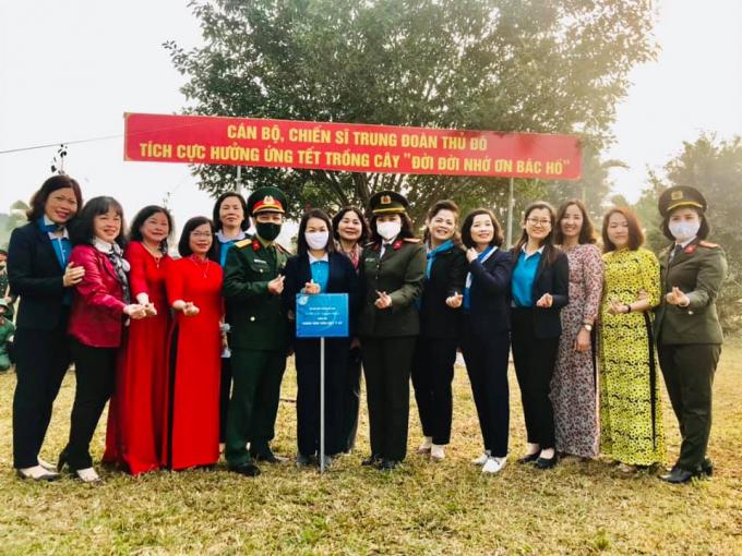 Một số hình ảnh tại Tết trồng cây Xuân Tân Sửu tại Trung đoàn Thủ đô.