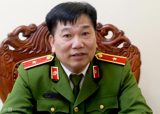 Thiếu tướng Tô Văn Huệ, Cục trưởng Cục Cảnh sát quản lý hành chính và trật tự xã hội. Ảnh: Bá Đô