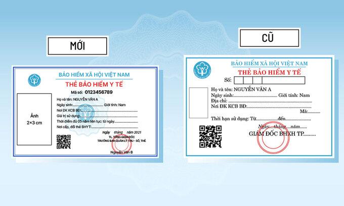 Những khác biệt của thẻ BHYT cũ và mới.