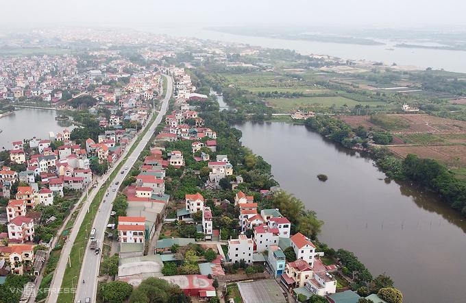 Bãi Thượng Cát, quận Bắc Từ Liêm, giáp ranh với xã Liên Trung, huyện Đan Phượng nằm trong quy hoạch xây dựng khu đô thị mới. Ảnh: Lê Đoàn.