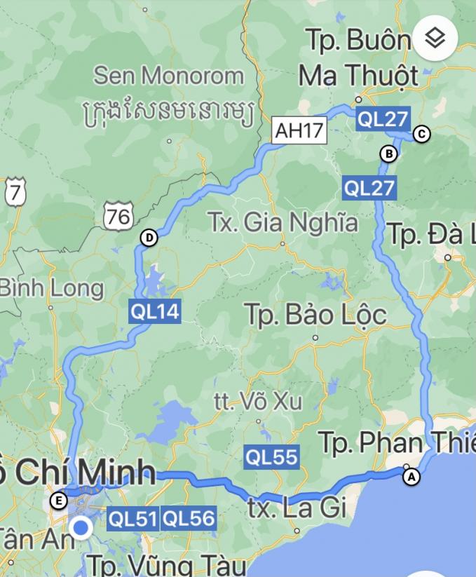 """Cung đường trải nghiệm khoảng 1.000 cây số trong 4 ngày, trong đó có những đoạn không thể """"hiện hình"""" đường đi trên bản đồ vì off-road"""