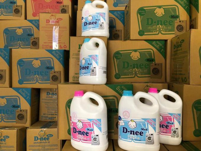 Hàng nghìn thùng hàng thành phẩm đã đóng vào thùng chuẩn bị phân phối ra thị trường để tiêu thụ.