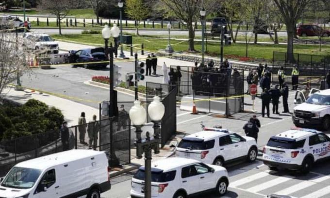 Nhà Quốc hội Mỹ bị tấn công khiến một sĩ quan tử vong