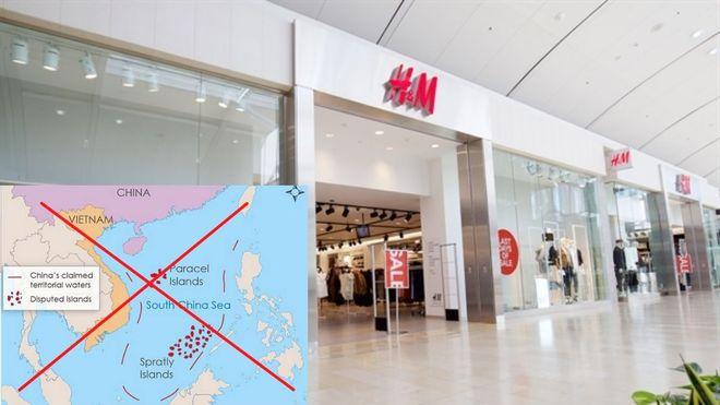 H&M sửa bản đồ có đường lưỡi bò phi pháp theo ý của Trung Quốc?