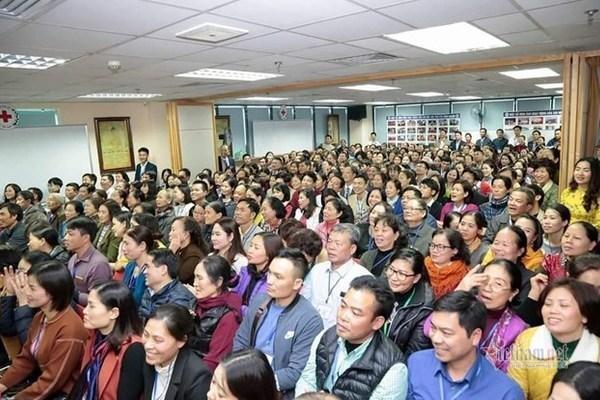 Hàng trăm hội viên của CLB Tình người thời điểm