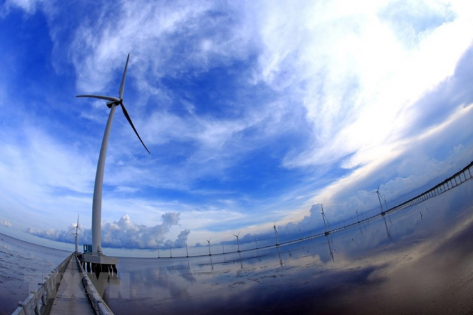 Bạc Liêu quy hoạch phát triển điện Gió với công suất lắp đặt đến năm 2020 là hơn 400 MW và đến 2030 là 1.500 MW. (Ảnh: TTXVN)