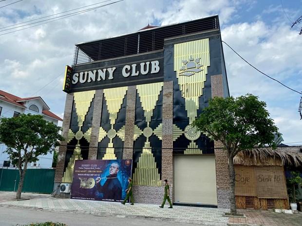 Đã có 9 trường hợpmắc COVID-19liên quan tới quán Bar-karaoke Sunny, Vĩnh Phúc. (Ảnh: PV/Vietnam+)