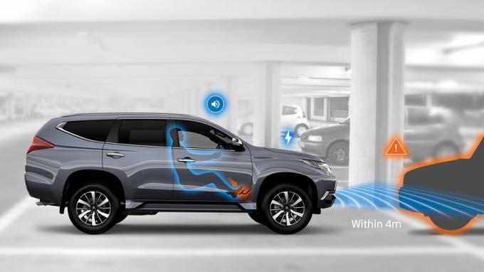 Công nghệ giảm thiểu tăng tốc sai bằng siêu âm trên xe Mitsubishi đời mới giúp hỗ trợ một phần sai lầm tai hại này trong một số trường hợp có điều kiện