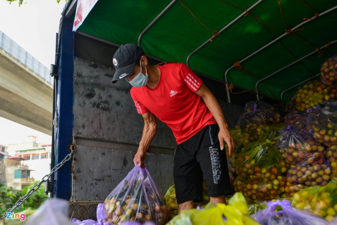 Kể từ ngày 25/4, nhóm đã bán hơn 29 tấn vải thiều. Chị Thủy cho biết vải được vận chuyển từ huyện Tân Yên, tỉnh Bắc Giang, đạt tiêu chuẩn VietGAP và thường được xuất khẩu sang thị trường Trung Quốc.