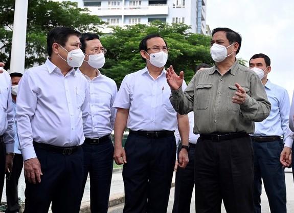 Thủ tướng Chính phủ Phạm Minh Chính ngày 26/6 làm việc tại TPHCM về công tác phòng chống dịch COVID-19