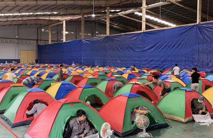 40 doanh nghiệp ở TP HCM đã đăng ký tổ chức cho công nhân ở lại nhà máy