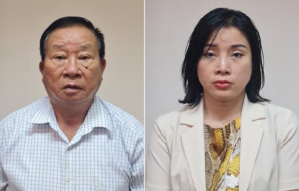 Các bị can Phạm Huy Lập (trái) và Phạm Thị Kim Oanh - Ảnh: Công an cung cấp