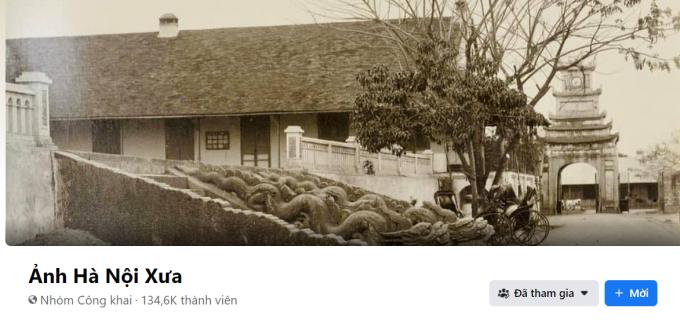 """Nhóm """"Ảnh Hà Nội xưa"""" trên facebook thu hút tới 134 nghìn thành viên"""