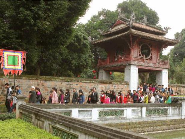Khuê Văn Các nay trở thành biểu tượng của thủ đô Hà Nội (Ảnh: Quốc Khánh)