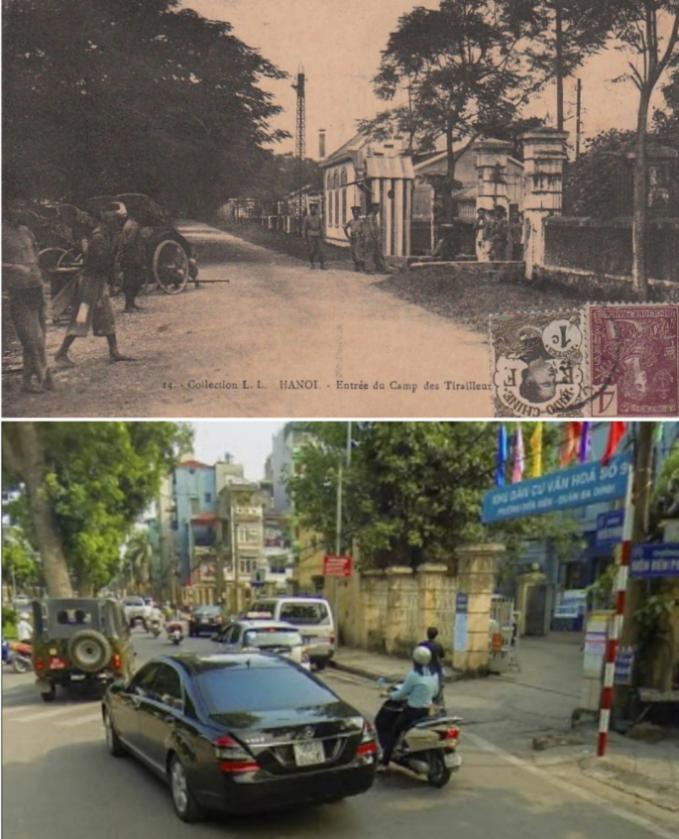 Đoạn giao cắt giữa đường Điện Biên Phủ và Nguyễn Tri Phương xưa và nay. (Ảnh: Group Hà Nội xưa)