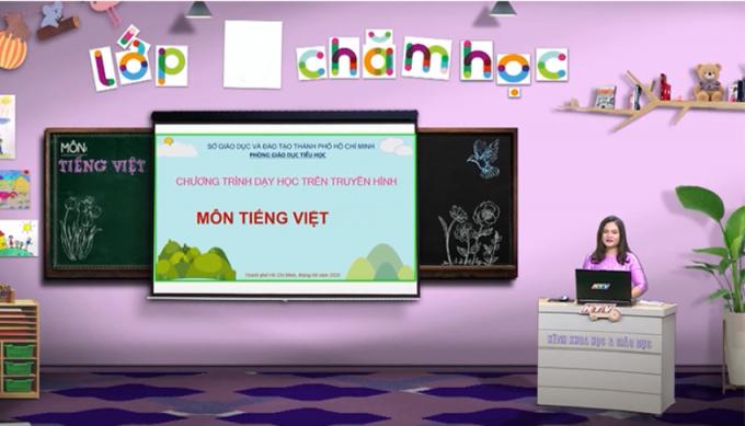 Học sinh lớp 1, 2 ở TP HCM học qua truyền hình