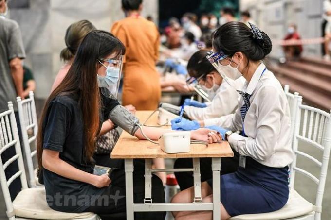 Trong chiều tối 9/9, quận Hoàn Kiếm sẽ tiêm cho khoảng 2.000 người , chủ yếu là người trên 65 tuổi. (Ảnh: PV/Vietnam+)