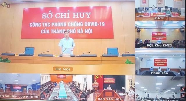 Phó Chủ tịch UBND TP Hà Nội Chử Xuân Dũng phát biểu chỉ đạo tại giao ban trực tuyến.