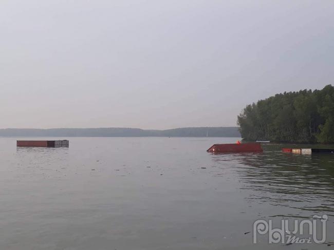 Hiện trường vụ chìm tàu