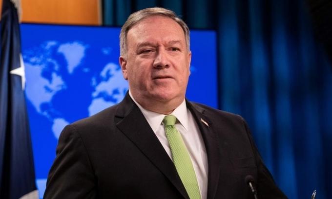 Ngoại trưởng Mỹ Mike Pompeo tại Washington ngày 20/5. Ảnh:Reuters.