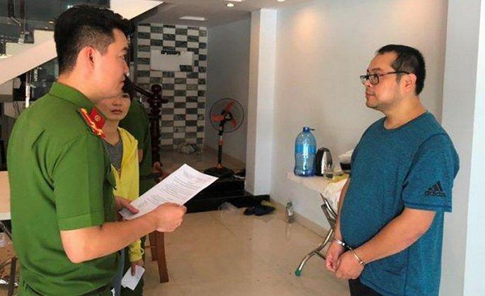 Đối tượng Trương Huệ Mẫn cầm đầu đường dây sản xuất phim khiêu dâm bị công an Đà Nẵng bắt.