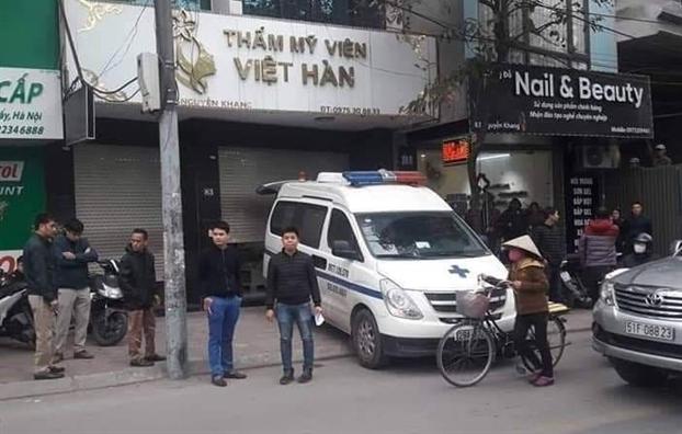 Thẩm mỹ viện Việt Hàn - nơi xảy ra vụ việc.