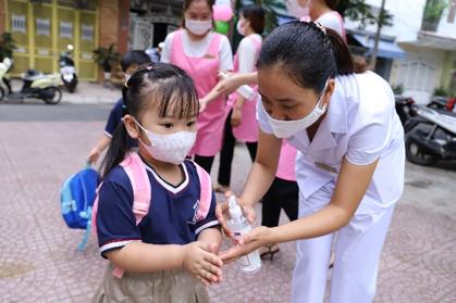 Các trường mầm non trên địa bàn TP. Đà Nẵng đón học sinh quay lại trường ngày đầu tiên vào hôm 21/9 vừa qua.
